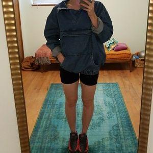 Oversized Denim Pullover